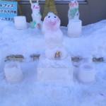 キャンドルと雪像、可愛く出来ました